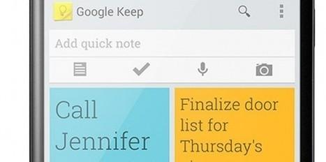 Quelle est l'ambition de Google avec Google Keep ? - Le Nouvel Observateur | Ecrire Web | Scoop.it