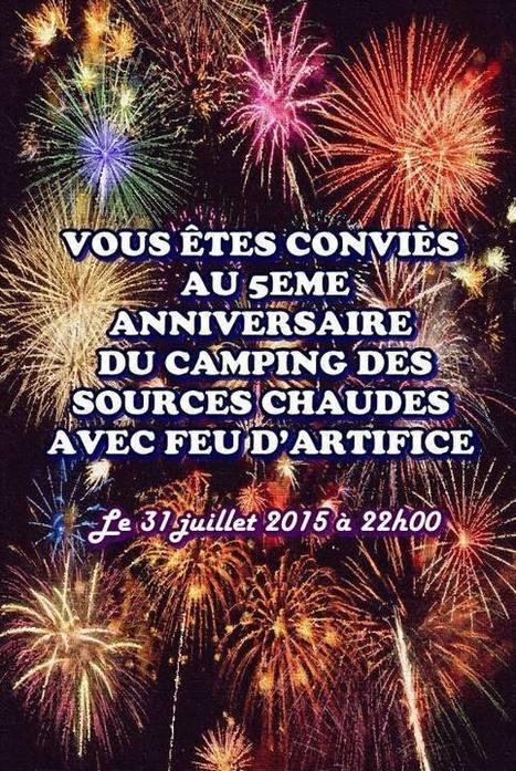 RDV demain soir au Camping Des Sources Chaudes pour notre 5ème anniversaire ! | Camping lacaune | Scoop.it