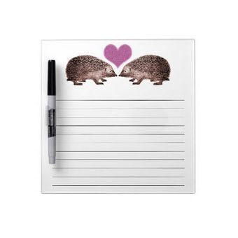 Hedgehogs in Love Cute Honey-Do Reminder List Dry Erase Board from Zazzle.com | Designs by ANTIQUE IMAGES | Scoop.it