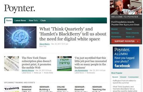 Poynter   Top sites for journalists   Scoop.it