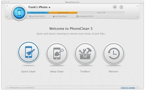 Free iPhone Memory Cleaner to speed up iPhone & iPad & iPod Touch | IOS Data Recovery & Cleaning | Scoop.it