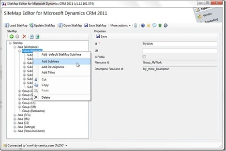 SiteMap Editor for Microsoft Dynamics CRM 2011 - Home | Dynamics CRM | Scoop.it