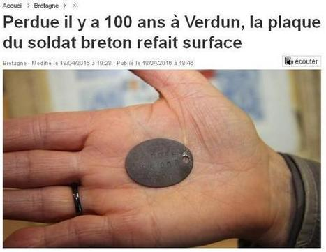 La plaque du soldat breton retrouvée … | Charentonneau | Scoop.it