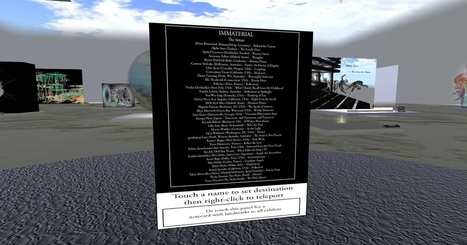 The University of Western Australia (UWA) in Second Life: IMMATERIAL: List of Entriesof the Art Exhibition | Mundos Virtuales, Educacion Conectada y Aprendizaje de Lenguas | Scoop.it