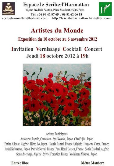SALON D'AUTOMNE ARTISTES DU MONDE 2012, exposición de | le monde diplomatique | Scoop.it