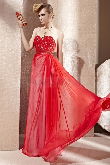 Luxury A -line Floor-length Sweetheart Backless Chiffon Red Prom Dresses : Lamistore.com | Lamistore Fashion Prom Dresses | Scoop.it