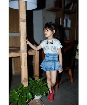 Baby Girl Denim Mini Skirt With BlingBling Fashion Style | Clothing at SMA-STAR | Scoop.it