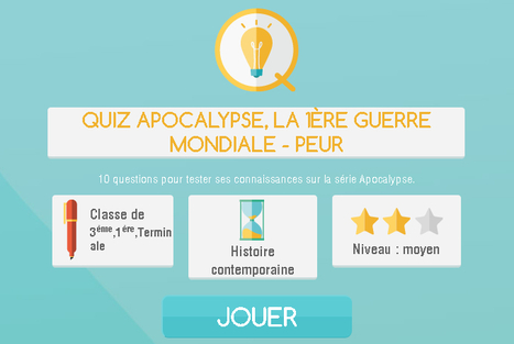Quiz Apocalypse, la 1ère guerre mondiale - francetvéducation | Nos Racines | Scoop.it