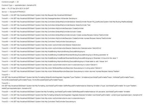 Per request tracing in ASP.NET Web API - StrathWeb | Asp.net MVC-NHibernate-EF-Angular JS | Scoop.it