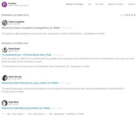 Favotron gère vos favoris Twitter et en fait un flux rss | Outils et pratiques du web | Scoop.it