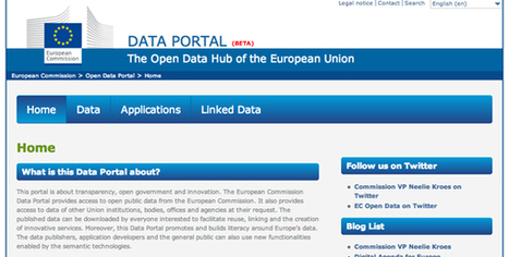 Data Portal : l'Union européenne ouvre son open data | Silicon | Connected places | Scoop.it
