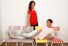 Des chaises au design rétro avec Les Gambettes   décoration   Scoop.it