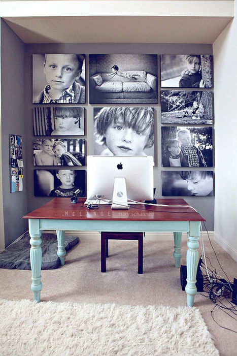 Unique Ideas How to Display Your Family Photos in Your Home - feelitcool.com | Inchalam | Scoop.it