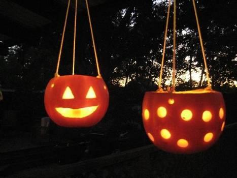 Hanging Pumpkin CandleHolders | Halloween & Spooky Fun Stuff~ | Scoop.it