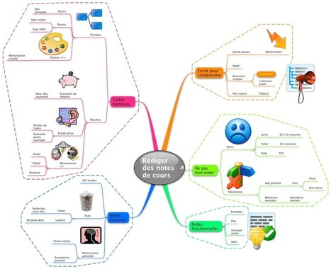 Exemple de carte mentale pour prendre des notes | Mind Mapping au quotidien | Scoop.it