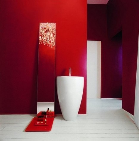 39 Cool And Bold Red Bathroom Design Ideas | Interesting and Fascinating | Scoop.it