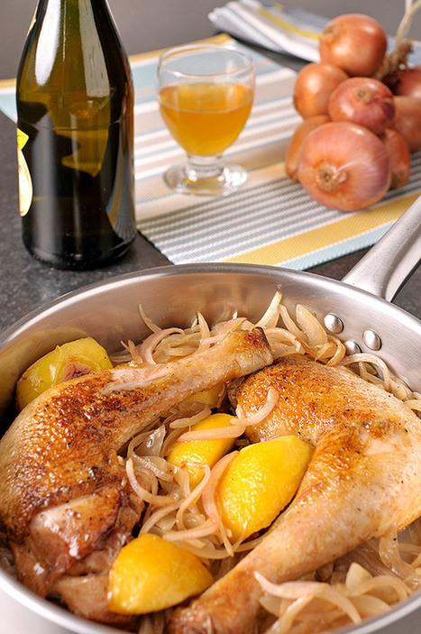 Oignons de Roscoff AOC et cidre, pour un poulet bien breton | Cuisinons les legumes | AOP | Scoop.it