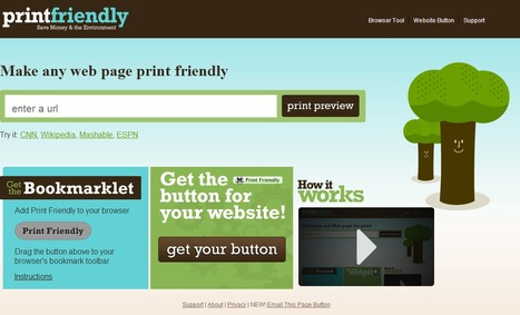 Print Friendly : Make a Printer Friendly & PDF version of any webpage. | Time to Learn | Scoop.it