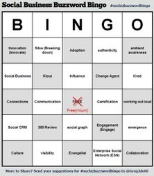 Social Business Buzzword Bingo | It's All Social | Scoop.it