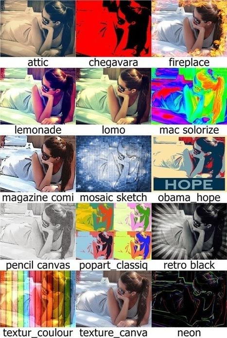 Photomania : éditeur de photos en ligne avec de nombreux filtres | Roshirached | Scoop.it