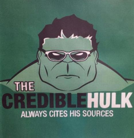 """Katie Halper on Twitter: """"Sign outside high school History department: """"the credible hulk always cites his sources."""" http://t.co/qRvniysUE2""""   21st Century Students and Teachers   Scoop.it"""