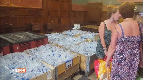 Une partie des habitants de Binche privés d'eau en pleine canicule: 15.000 berlingots d'eau distribués | water news | Scoop.it