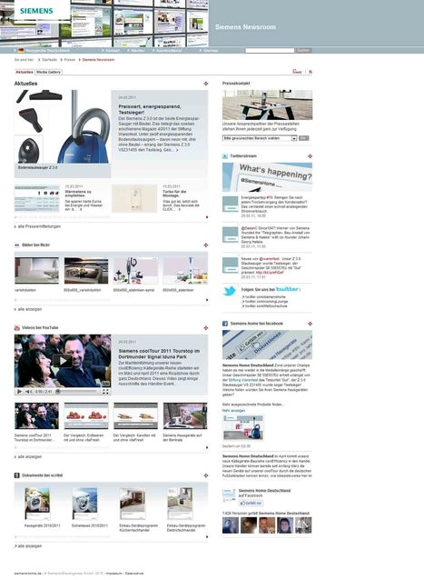 Siemens-Hausgeräte Deutschland - Siemens Newsroom | Social Media Newsrooms | Scoop.it