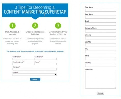 How to Use Forms for Lead Generation | All about Content Marketing | Scoop.it