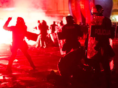 Scores injured in anti-austerity Slovenia clashes (PHOTOS) — RT | The Indigenous Uprising of the British Isles | Scoop.it