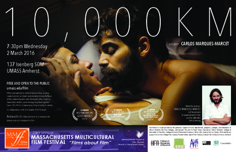 "Catalan Film Festival: ""10,000 KM"" by Carlos Marqués-Marcet, Presented By  Its Director on Wednesday, March 2nd 