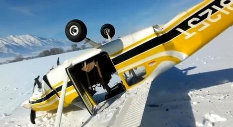 Il s'écrase en avion et filme la scène depuis le cockpit avec son téléphone portable - VIDEO - L'actu qui buzze   Insolite, Weird News   Scoop.it