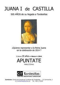 El plazo para optar a encarnar en Tordesillas (Valladolid) el personaje de Juana I finaliza este jueves | Mexicanos en Castilla y Leon | Scoop.it
