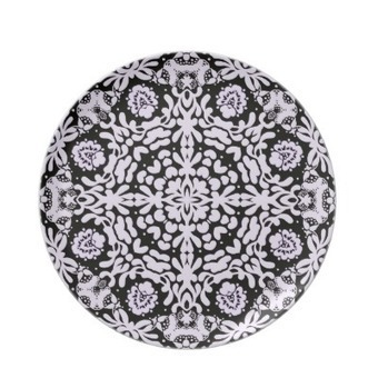 Black White Baroque Lace Plate from Zazzle.com | Dinner Plates | Scoop.it