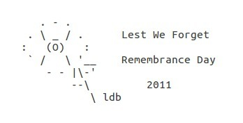 Remembrance Day 2011 | Word Grrls | ASCII Art | Scoop.it