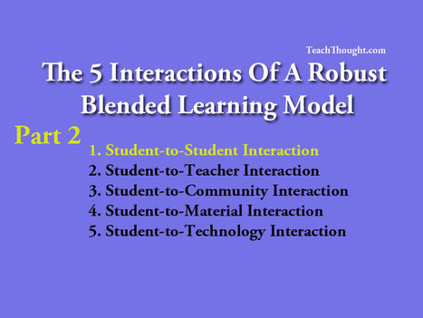Examining Blended Learning Models: Student To Student Interactions | Age of Globalization II | Scoop.it