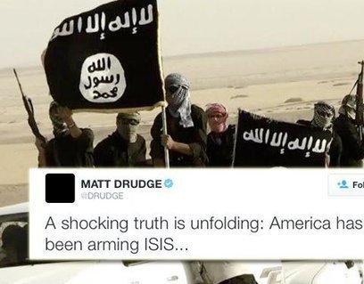 """CNA: Los estadounidenses se despiertan – Drudge hace viral el secreto más grande: """"EE.UU. ha estado armando a ISIS""""   La R-Evolución de ARMAK   Scoop.it"""