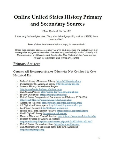 US History Online Sources | Teaching and Learning with Primary Sources | Scoop.it