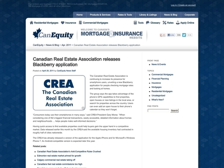 Canadian Real Estate Association releases Blackberry application ... | Nova Scotia Real Estate | Scoop.it