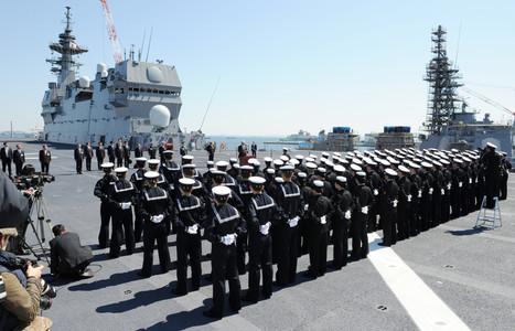 La Marine japonaise prend livraison de son porte-hélicoptères Izumo | Newsletter navale | Scoop.it