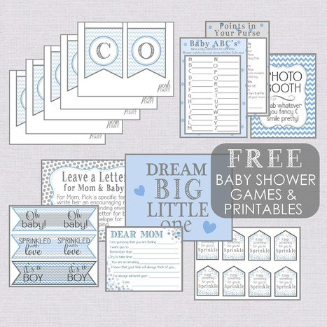 A Boy {Sprinkle} - Free Baby Shower Printables | DIY - Parties, Decor, & Crafts | Scoop.it