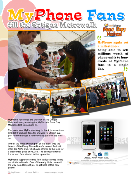 MyPhone Fans Fill the Ortigas Metrowalk | MyPhone E-Mag | Scoop.it