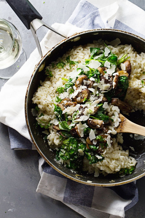 Garlic Butter Mushroom Risotto - Pinch of Yum | Coffee & food Junkies | Scoop.it