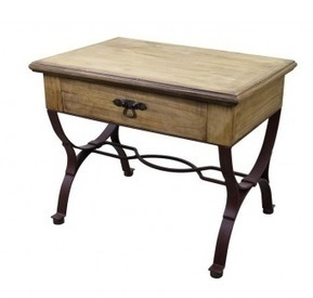 Rustic Wood End Table With Iron Base | Furniture and Pottery | Scoop.it