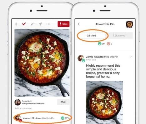 Pinterest permet de partager un avis après avoir testé un produit ou une idée | * LE MIAM MIAM BLOG * et les réseaux sociaux | Scoop.it