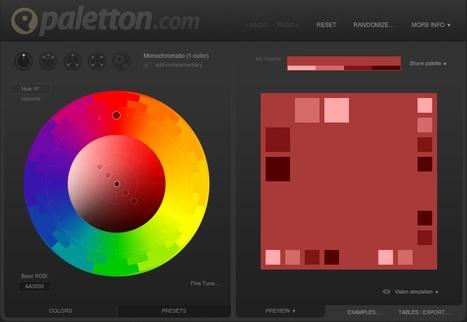 Paletton - Choisir les couleurs de sa charte graphique | TICE, Web 2.0, logiciels libres | Scoop.it