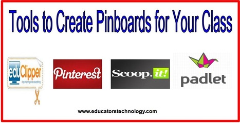4 Great Web Tools Teachers Can Use to Create Pinboards for Their Classes | Web tools to support inquiry based learning | Scoop.it