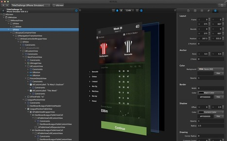 Using Reveal App to build a RubyMotion football manager game - A blog about iOS dev with RubyMotion | RubyMotion | Scoop.it
