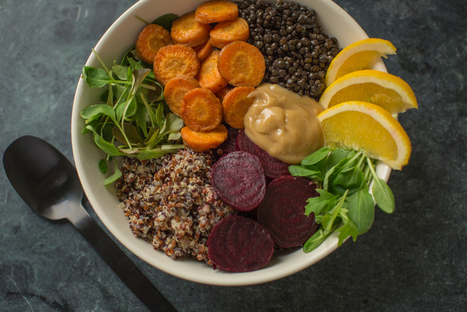 Cumin Lentil and Quinoa Bowl with Roasted Vegetables and Orange-Honey Tahini - Relay Living | My Vegan recipes | Scoop.it