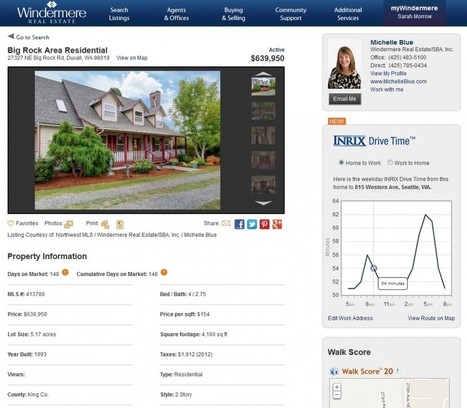 Predicting commute times from the homestead: INRIX inks deal with Windermere | Real Estate Plus+ Daily News | Scoop.it