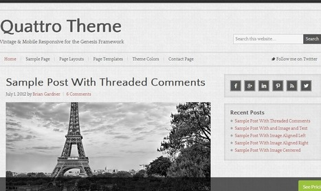 Quattro Theme for StudioPress Genesis | Premium WordPress Themes | Scoop.it